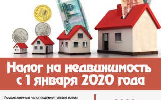 Расчет налога на квартиру в 2020 году в России